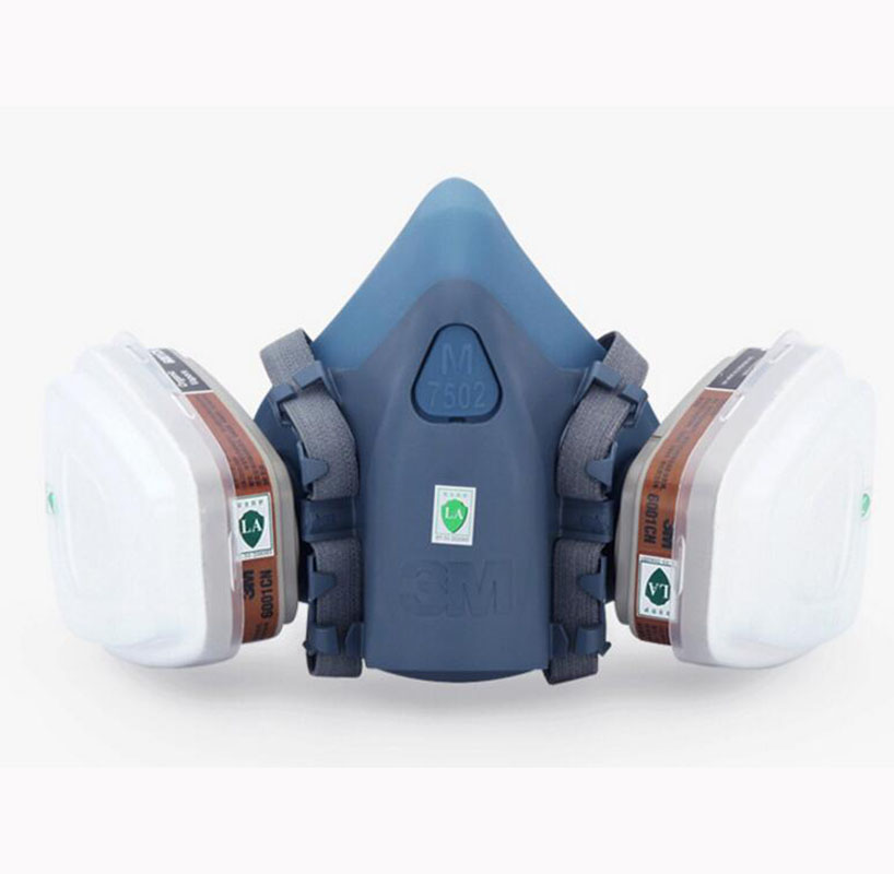 Image 3 - 9 In 1 Suit Gas Mask Half Face Respirator Painting Spraying For 3 M 7502 N95 6001cn Dust gas Mask Respirator-in Chemical Respirators from Security & Protection