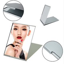 Ultra-thin makeup mirror cosmetic bag rectangular foldable compact folding