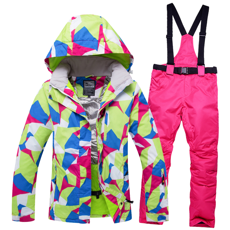 2018 High Quality Ski Jacket And Pants Snow Warm Waterproof Windproof Skiing And Snowboarding Suits Winter Ski suit Women Brand 2018 new lover men and women windproof waterproof thermal male snow pants sets skiing and snowboarding ski suit men jackets