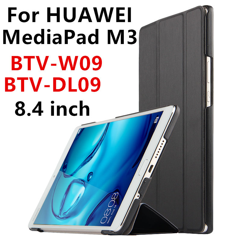 Case For Huawei MediaPad M3 Smart cover PU Leather Tablets PC Protective 8.4 inch Case For Huawei M3 BTV-W09 BTV-DL09 Protector silicon pu leather case for huawei mediapad m3 btv w09 btv dl09 8 4 inch smart sleep case cover tablet flip shell funda capa