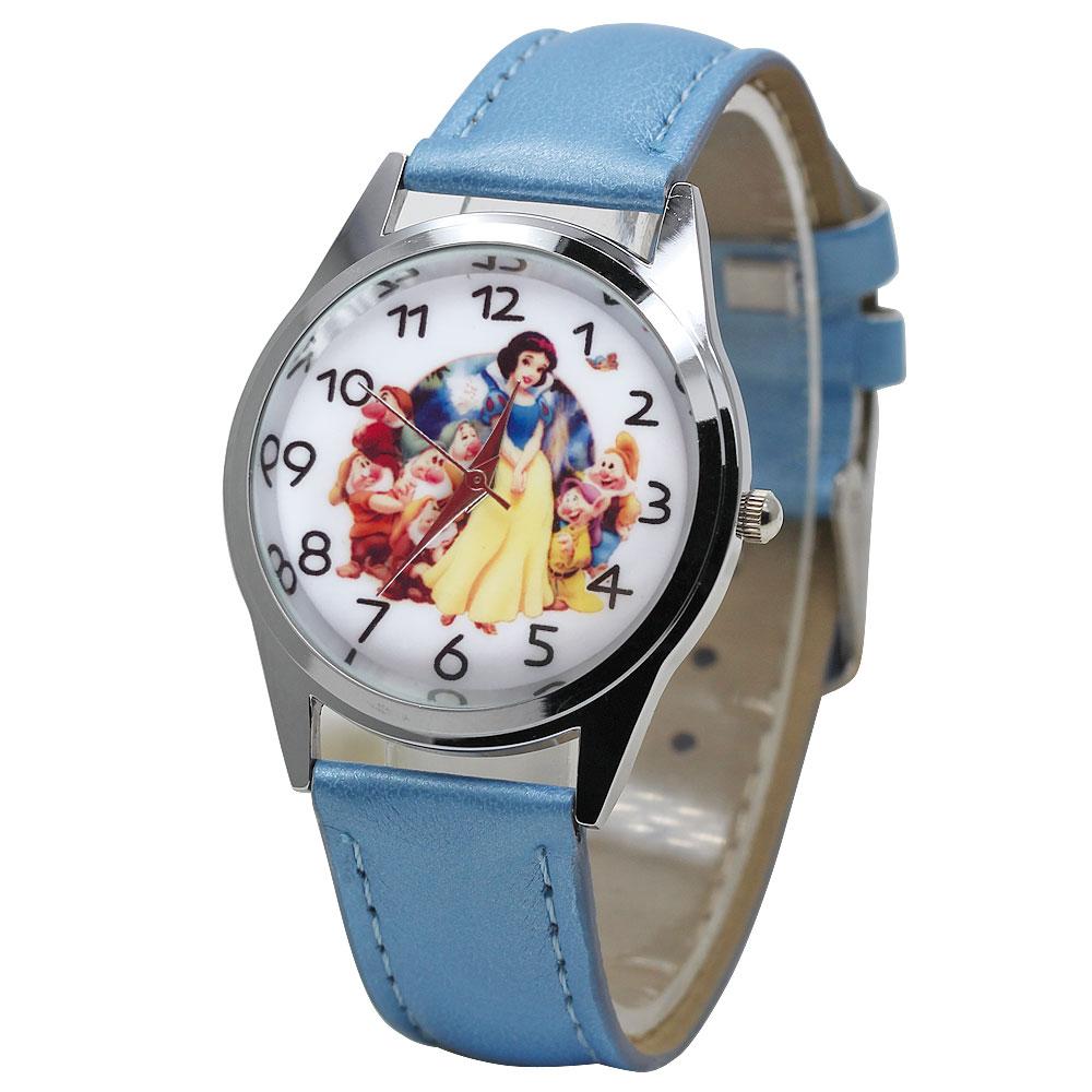 2019 Children's Quartz Small Clock Cute Cartoon White Princess Girl Watch Casual Jelly Leather Kids Boys Gift Wristwatch