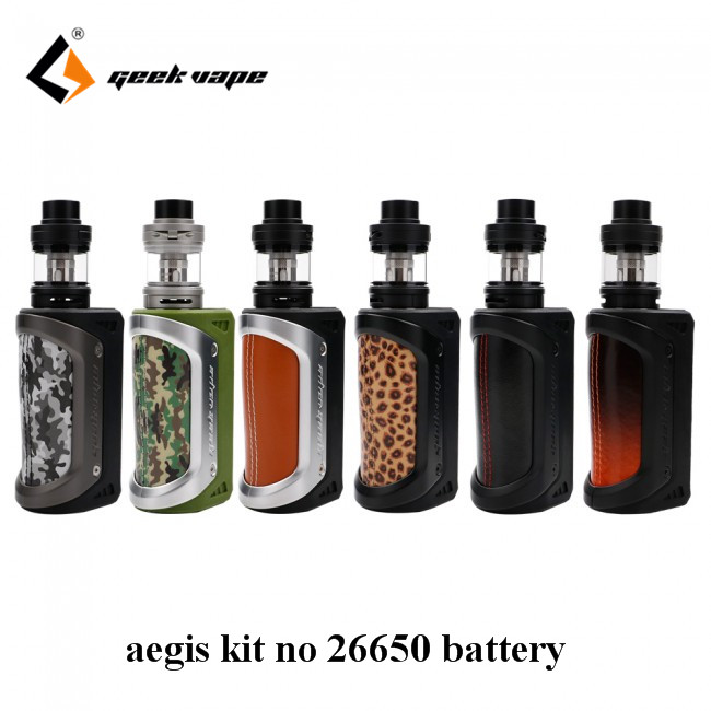 Big sale! original GeekVape AEGIS Kit 100W with aegis W/O battery and geekvape Shield RTA waterproof no 26650 best e cig kit in stock geekvape aegis kit 100w box mod with 26650 battery and geekvape shield rta waterproof for ammit dual