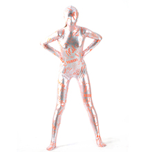 (MZS031) Multicolor Shiny Metallic Tights Classic Halloween Costumes Unisex Fetish Zentai Suits
