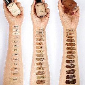 Image 2 - Gesicht Foundation Creme Concealer Volle Abdeckung Matte Basis Professionelle Make Up Haut Ton Corrector Für Dunkle Haut Schwarz Menschen