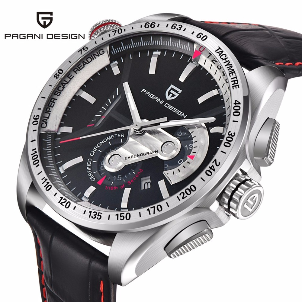 PAGANI DESIGN Fashion Sport Watch Men Luxury Brand Waterproof Quartz Chronograph Business Military Wrist Watch Male Clock genuine curren brand design leather military men cool fashion clock sport male gift wrist quartz business water resistant watch