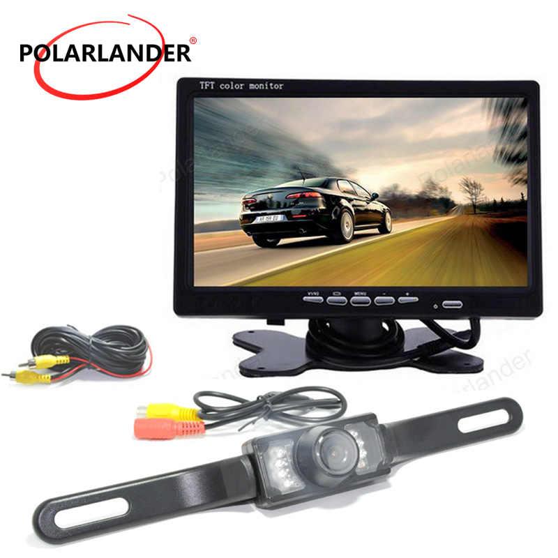 HD 7 дюймов ЖК-дисплей Дисплей обратный Камера автомобиля для контроля уровня сахара в крови с светодиодный фары парковка Системы DVD VCR Ночное видение на тонкопленочных транзисторах на тонкоплёночных транзисторах Цвет Экран