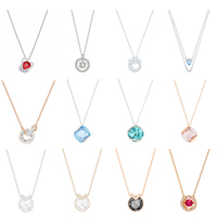 be21fb71d58 High Quality 1 1 Original SWA Necklace Pendant Jewelry Crystal Gorgeous  Beautiful Ladies Elegant Delicate Fresh