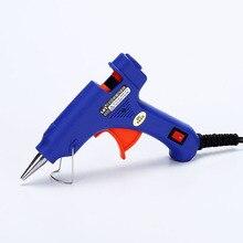 20 Вт Электрический нагрев горячего расплава клеевой пистолет палочки триггер Art grft Repair Heat пневматический инструмент удобный Профессиональный высокотемпературный нагреватель