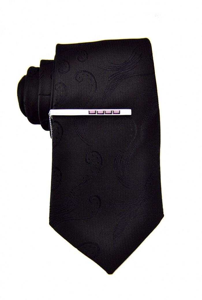 Спарта Белое золото гальванические+ Фиолетовый Австрия кристалл Зажимы для галстука мужские Зажимы для галстука Спарта