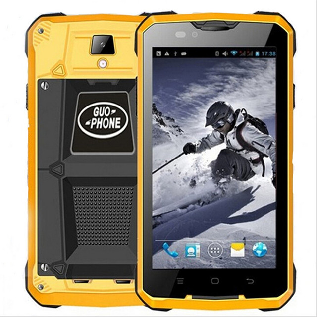 4000mAH GUOPHONE V12 Waterproof Shockproof Phone 5.0inch Android 4.4 3G GPS  MTK6572 Dual Core 1.3GHZ 5MP Outdoor Cell phones