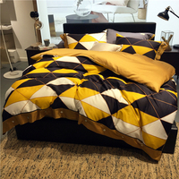 Модный современный комфортный комплект постельного белья RUIYEE king size комплект постельного белья пододеяльник простыня наволочка Комплект п