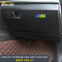 GELINSI copilot storage box Anti kick mat cover Interior Accessories For BMW F48 X1 2016 2017 2018 Auto Car styling