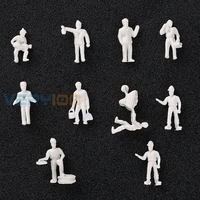 20pcs Simulation Game 1 87 Model Train Layout Unpainted White Figures Railway Workers HO Scale Home