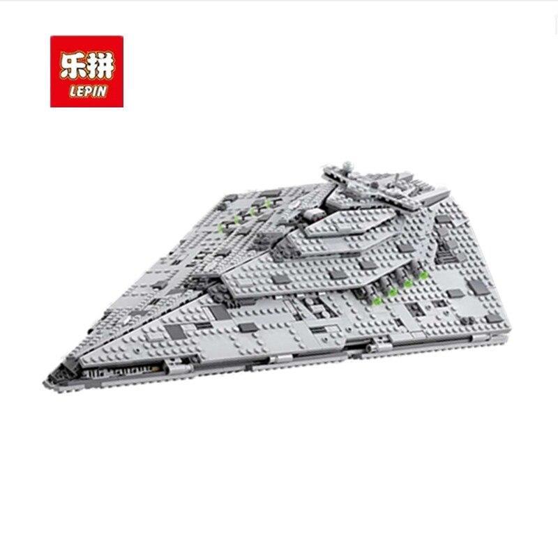 Lepin 05131 1585Pcs Star wars Series The First order Star Destroyer LegoINGlys 75190 model Building Blocks Bricks Toys for boys цены онлайн