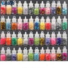 12 бутылок красивые Стразы Блестки звезды сердце цветы порошок наклейки для ногтей набор маникюрный Декор Аксессуары DIY рукоделие принадлежности