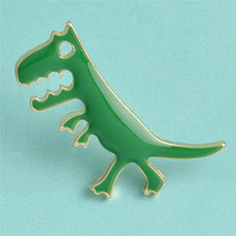 1 個漫画恐竜ブローチピンガールズ動物エナメル襟バッジのコサージュのブローチの宝石