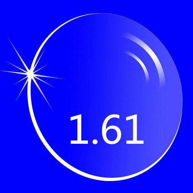 Радиационной защиты высокий индекс 1.61 прозрачные линзы оптических HMC Asphere анти-уф близорукость дальнозоркость линзами, 2 шт.