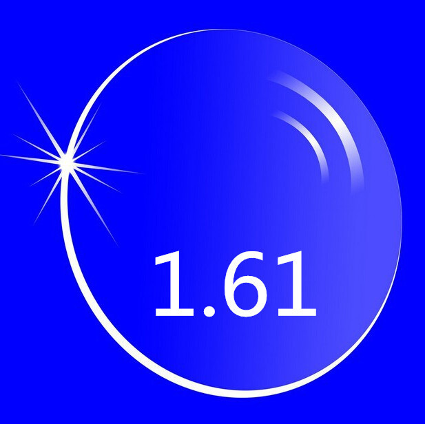 Proteção de alta de 1.61 de lente óptica HMC lentes asfera de anti UV miopia hipermetropia, 2 pcs