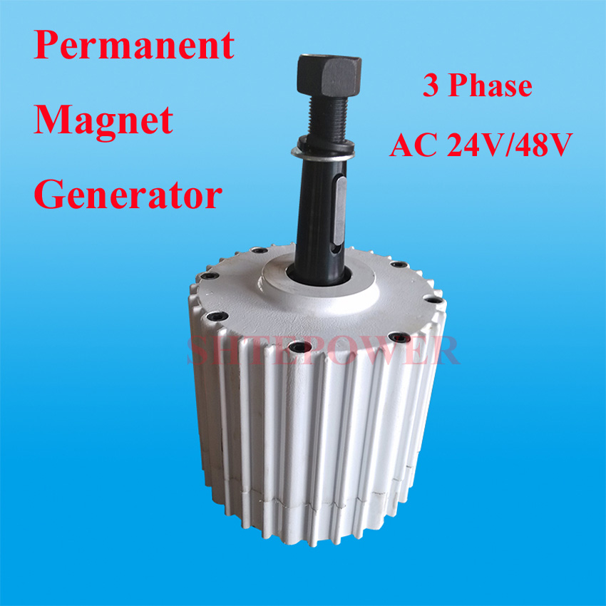 цена 1000W permanent magnet generator 1kw ac 24v/48v with base/without base low RPM 50HZ three phase онлайн в 2017 году