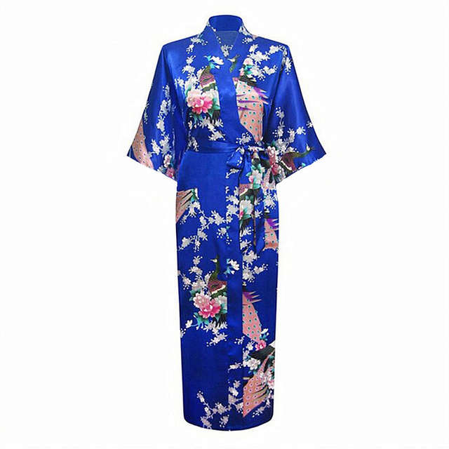 2b457c7ad4 Online Shop Women Bath Robe Pink Japanese Yukata Kimono Ladies Faux Silk  Gown Sexy Sleepwear Plus Size M L XL XXL XXXL Pijama Mujer Zh01Q