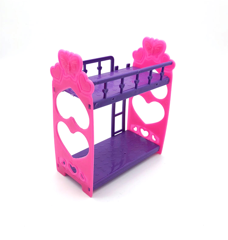 Plastic Double Bed Frame For Kelly Barby Doll Bedroom Furniture Accessories Purple Pink Or Pink Yellow Color