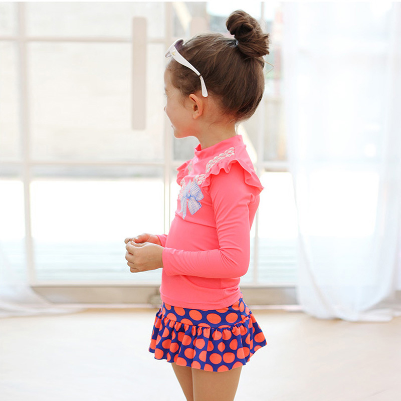 5815a650c3714 2016 summer new brand girl swimsuit sun protection girls swimwear Swimsuit  toddler girl Swimming Suit kids Bathing Clothes 2 8Y-in Clothing Sets from  Mother ...