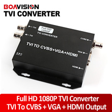 2016 NEW TVI Camera Signal to HDMI/VGA/CVBS Converter Support HDMI+VGA+CVBS(BNC) Output 1080P@25/30Hz HD Video Converter-Black