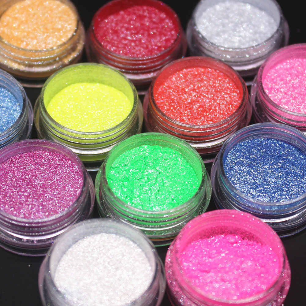 12 di colore di Bellezza Glitter Ombretto In Polvere Pigmento Minerale Lustrino di Trucco Set di Cosmetici di Lunga durata 2017 Nuovo Caldo Carino eye34