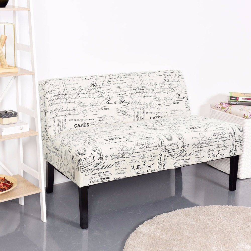 Pleasant Giantex Armless Loveseat Sofa Fabric Settee Bench Bed Chair Gmtry Best Dining Table And Chair Ideas Images Gmtryco
