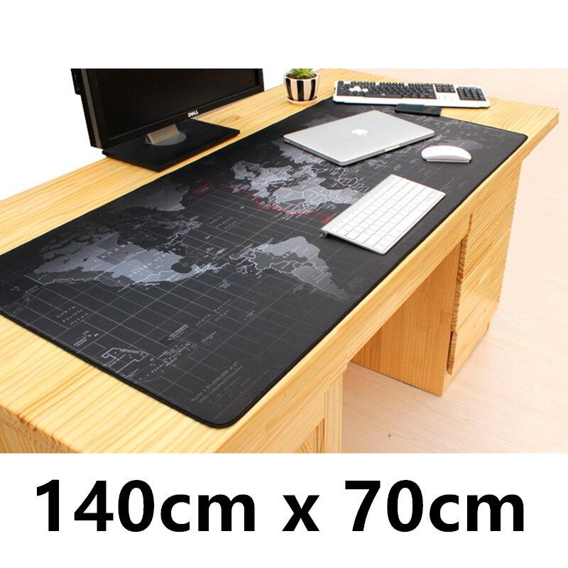 SIANCS Super Grand 140 cm x 70 cm Monde carte tapis de Souris jeu gamer tapis de Souris de jeu Grand Bureau Table à Coussin clavier Protecteur Tapis