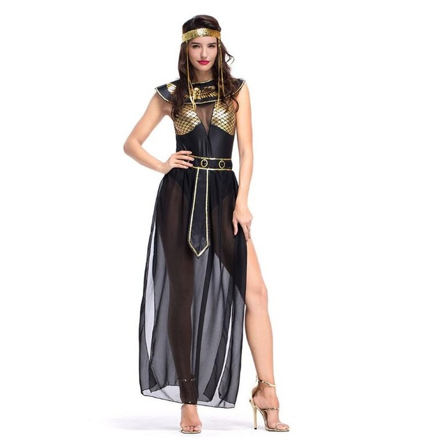 Sexy Egyptian Goddess Arabia Princess Costume Western Movie Leia Prisoner  Dress Costume High Quality Halloween Cospaly Clothes