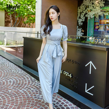 hot deal buy long rompers sexy women jumpsuit summer party solid o-neck maxi catsuit overalls belted bodysuit club pants playsuits rompers