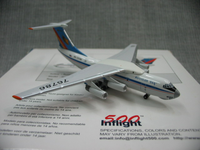 ФОТО Special offer rare inflight 500 1: 500 Russia aerosur IL-76 alloy aircraft model ra-76786 Favorites Model