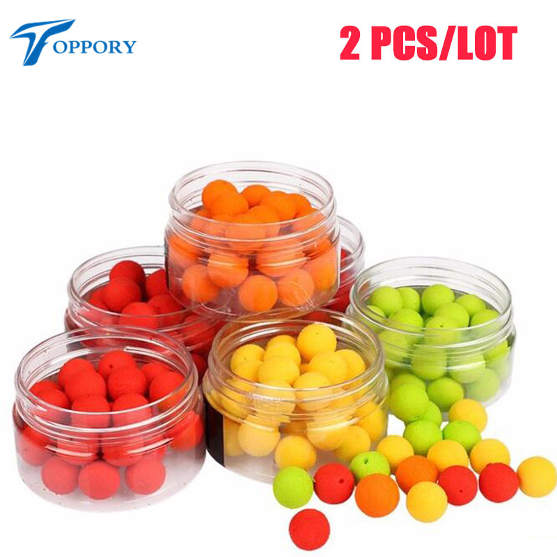 Toppory 2 Boxes/Lot 30 PCS/Box 12mm Pop Up Boilies For Carp Fishing Floating Ball Artificial Bait Boilies Lake River DIY Bait toppory 2 boxes lot 30 pcs box 12mm pop up boilies for carp fishing floating ball artificial bait boilies lake river diy bait