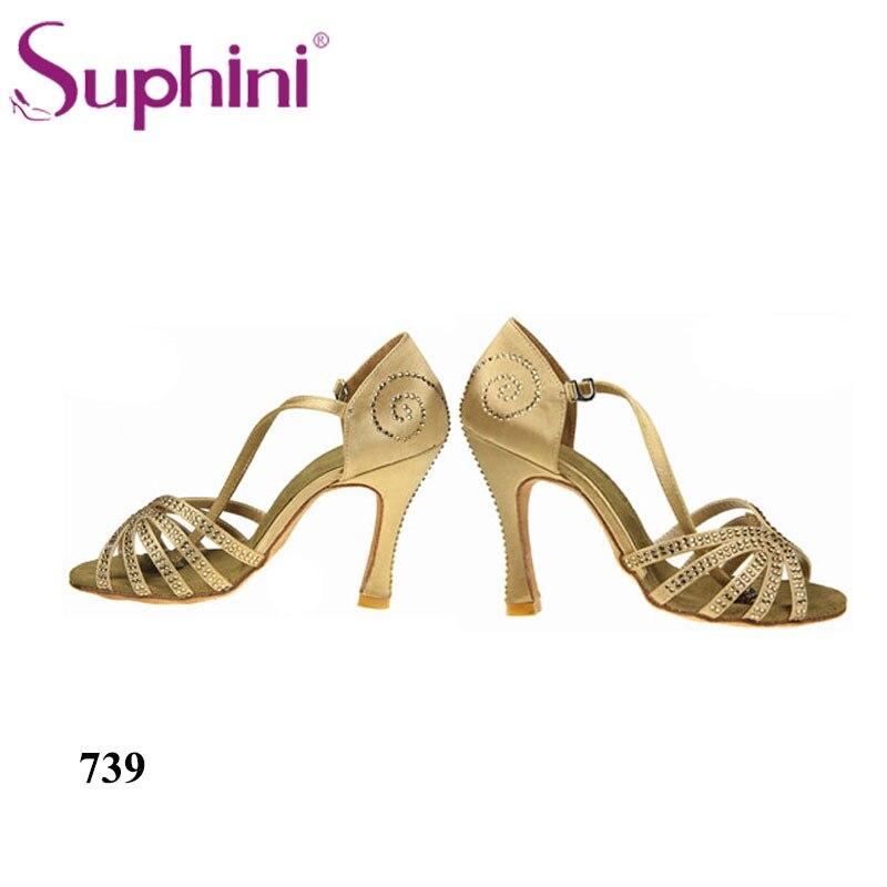 Suphini chaussures de danse de fête chaussures à talons hauts Latin