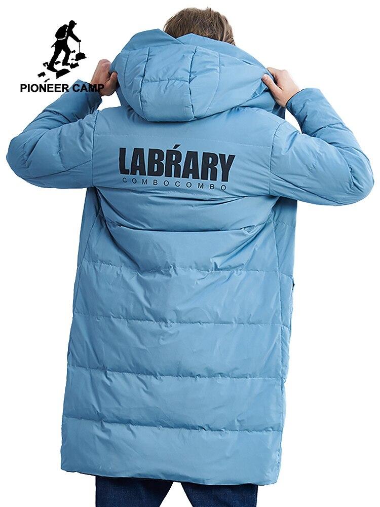 Camp pionnier nouvelle hiver long down vestes hommes marque vêtements mode chaud vers le bas parkas mâle qualité réversible porter AYR801408