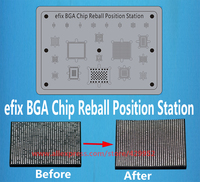 3D BGA Chip Reball Stencil Soldering Position Station Iron Welding Flux Fix Repair IPhone 6 6s