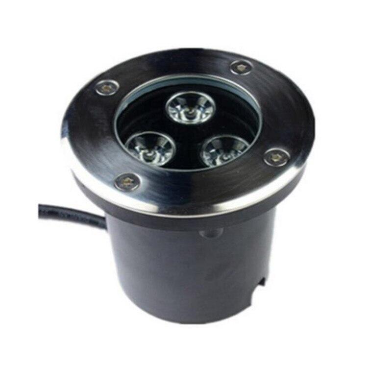 DHL gratis verzending IP68 waterdicht 3x3w led ondergrondse licht - Buitenverlichting