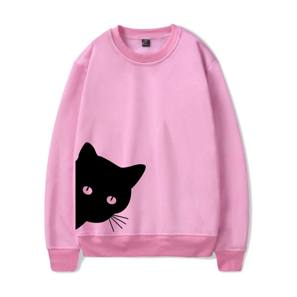 Black Cat Design Women's Cotton Hipster Sweatshirt
