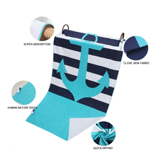 Quick Dry Large Blue Beach towel