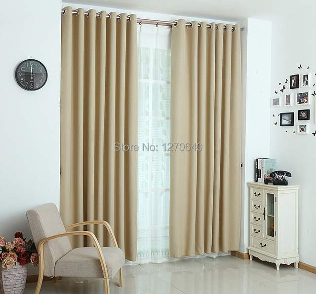 Best Winter Style Blend Blackout Curtains Good Quality Natural Curtain For Window Finished Simplicity Home Decor