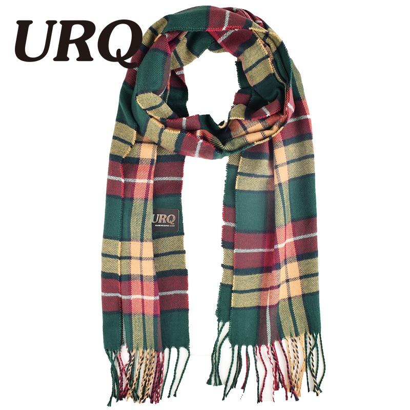 32*170cm New Fashion Mens Warm Tassel Winter Check Plaid Shawl   Wrap   Long   Scarves     Scarf   Unisex   Scarves   Woman   Wraps   A3A17740