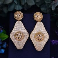 GODKI Delicate Luxury Gemoetric Cubic Zirconia Party Wedding Silver Dangle Drop Earrings