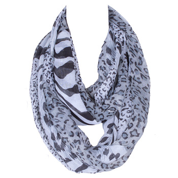 2018 Brand New Fashion Women Ring Loop Scarves Leopard Print Cowl Neck Scarf All-match Lady Soft Infinity Scarf 180*80 CM 2019 fashion women s voile infinity scarves lightweight elegant various floral print polyester ring thin sheer loop small scarf