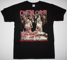 CANNIBAL CORPSE BUTCHERED AT BIRTH 1991 DEATH METAL GRINDCORE NEW BLACK T-SHIRT Short Sleeve Casual Printed Size S-2Xl T Shirt