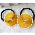 Nuevo estilo de moda para las niñas mujeres vendas elásticos del pelo frutas rebanada multi-patrones de pelo 1 unidades bandas de goma mujeres Headwear YW008