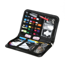 91 PCS Sewing Kit Thread Coil Buttons Crochet Hooks Needles Stitches Needle Safty Pin Craft Case Travel Sewing Kit Accessories