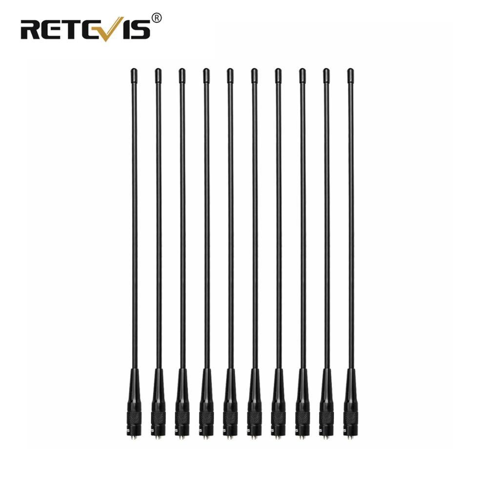 10 pièces Retevis RHD-771 39 cm SMA-F VHF Radio Antenne Pour Kenwood Pour Baofeng UV-5R BF-888S Retevis H777 Pour HYT pour Puxing