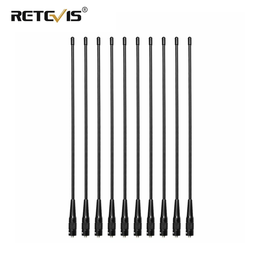 10pcs Retevis RHD-771 39cm SMA-F VHF UHF Ham Radio Antenna For Kenwood For Baofeng UV-5R BF-888S Retevis H777 For HYT For Puxing
