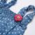 Bebé ropa de Las Muchachas 2017 Del Verano Del Bebé niñas Traje de mezclilla Bobo choses Monos Recién Nacidos de Los Mamelucos sin mangas de ropa infantil